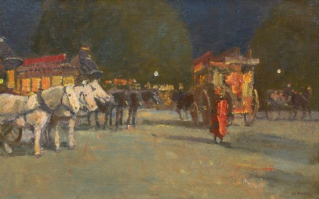 Kees Maks | Omnibusses in Paris, oil on canvas, 52.9 x 83.0 cm, signed l.r. and painted in 1910