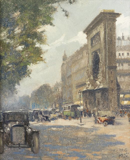 Schotel A.P.  | Porte Saint-Denis in Paris, oil on canvas 57.0 x 47.0 cm, signed l.r. and dated '24