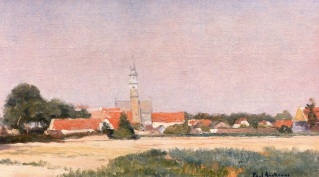 Paul Arntzenius | A view of Veere, oil on canvas laid down on panel, 25.5 x 44.8 cm, signed signed l.r.