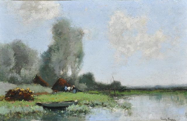 Cornelis Kuijpers | A farmyard, oil on canvas, 27.5 x 40.3 cm, signed l.r.