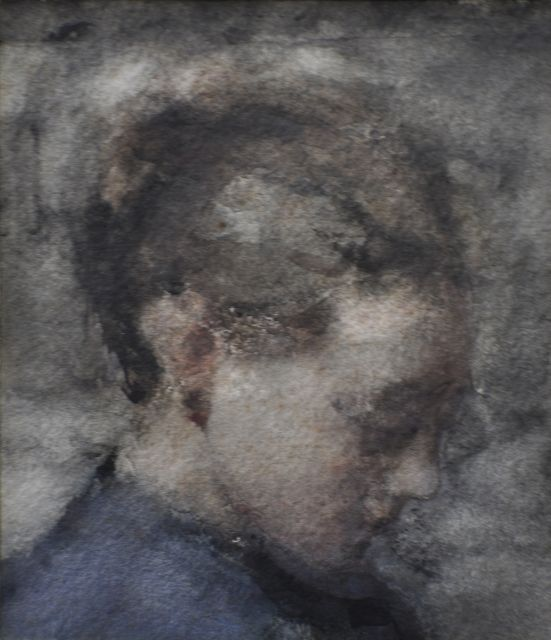 Albert Roelofs | Portrait of a girl, watercolour on paper, 18.2 x 15.2 cm, painted in 1901