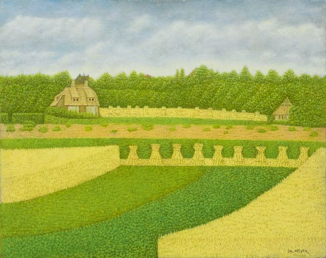 Sal Meijer | Country house near Blaricum, oil on panel, 40.0 x 49.9 cm, signed l.r.