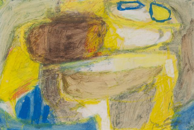 Jaap Nanninga | Composition, pastel and gouache on board, 31.2 x 46.2 cm, signed l.r.