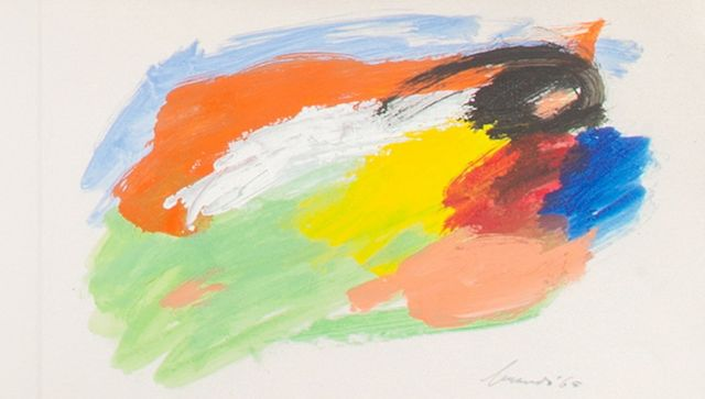 Eugène Brands | The artist's New Year's Card 1966, gouache on paper, 16.0 x 49.0 cm, signed l.r. and dated '65