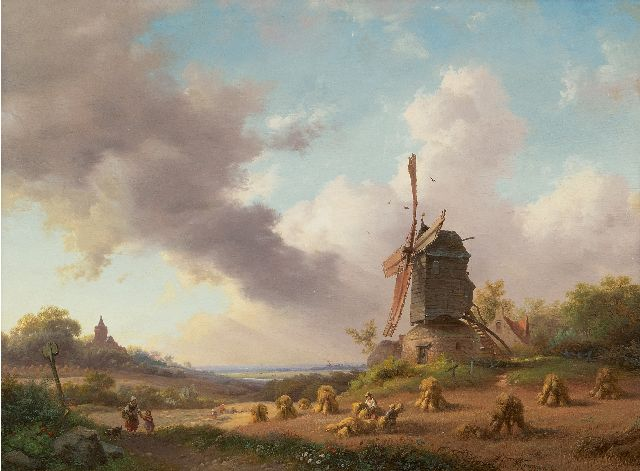 Frederik Marinus Kruseman | Harvest month, August, oil on panel, 28.5 x 38.5 cm, signed l.r. and dated 1850