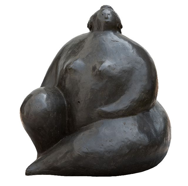 Evert van Hemert | Saskia, patinated bronze, 65.0 x 55.0 cm, signed with monogram on the side