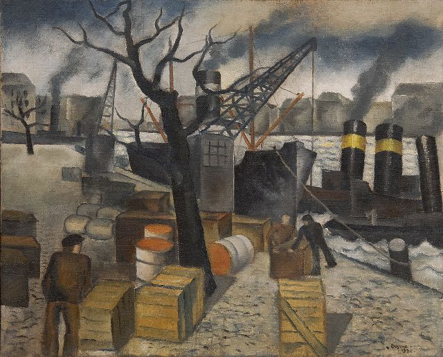 Wim Bosma | In the harbour, oil on canvas, 45.2 x 55.4 cm, signed l.r. and dated 1930