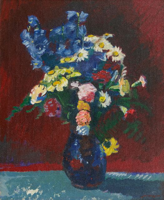 Jan Wiegers | A summer bouquet, oil on canvas, 73.7 x 60.3 cm, signed l.r. and dated '41