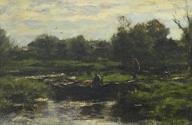 Jacob Maris | Wheeling sand, oil on canvas, 40.0 x 59.8 cm, signed l.r. and painted ca. 1889