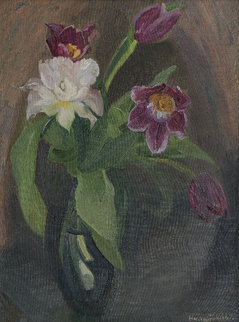 Harrie Kuijten | Tulips, oil on canvas, 50.1 x 36.3 cm, signed l.r.
