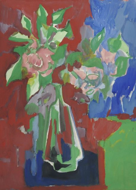 Elffers D.C.  | A flower still life, gouache on paper 70.0 x 55.0 cm