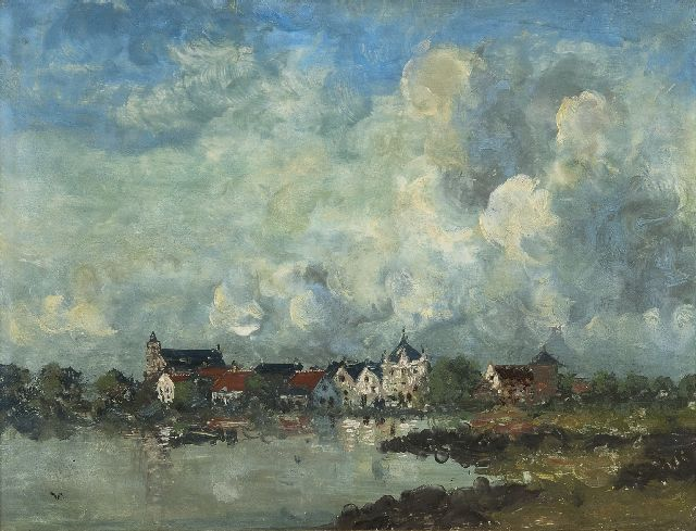 Jan Voerman sr. | A view of Hattem, oil on panel, 30.5 x 39.7 cm