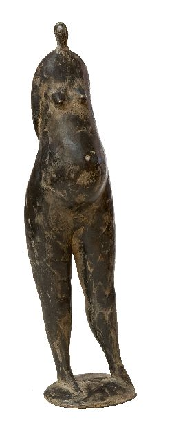 Hemert E. van | Famke Fataal, patinated bronze 29.2 x 7.0 cm, signed with monogram on the base and executed in 2008