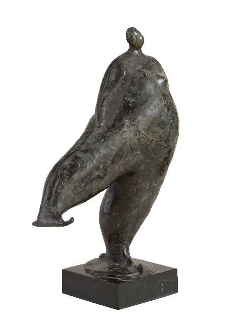 Hemert E. van | Sjoukje, patinated bronze 28.0 x 22.0 cm, signed with monogram on the base and executed in 2010