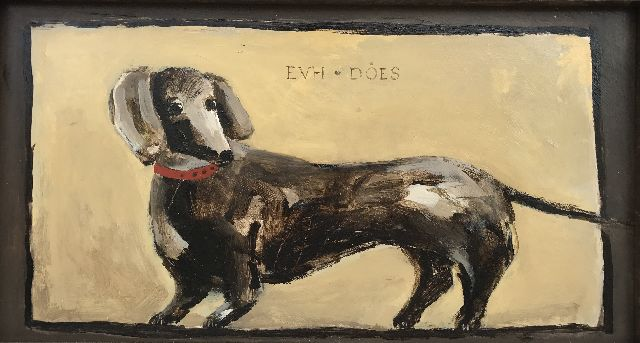 Evert van Hemert | Does, acrylic on board, 25.2 x 46.0 cm, signed u.c. with initials and dated on the reverse 2012