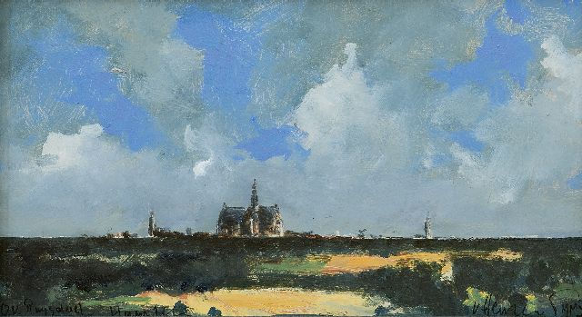 Evert van Hemert | Evert's Ruysdael, acrylic on board, 19.6 x 35.0 cm, signed l.r. and dated 'Haarlem' MMXV