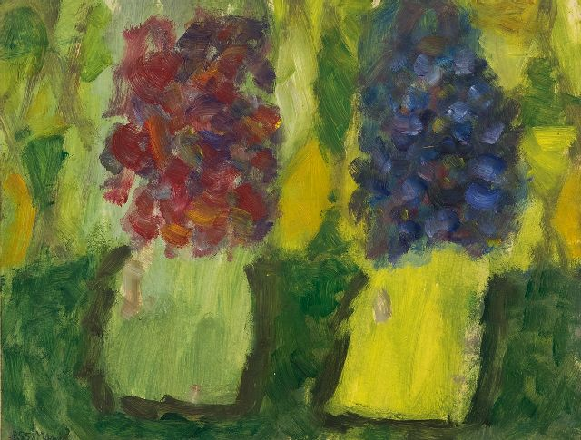 Brands E.A.M.  | Two Vases, oil on paper 25.1 x 32.7 cm, signed l.l. and dated 8.55