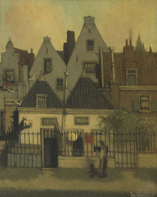 Henri van Daalhoff | A town view, oil on panel, 40.3 x 32.1 cm, signed l.r.