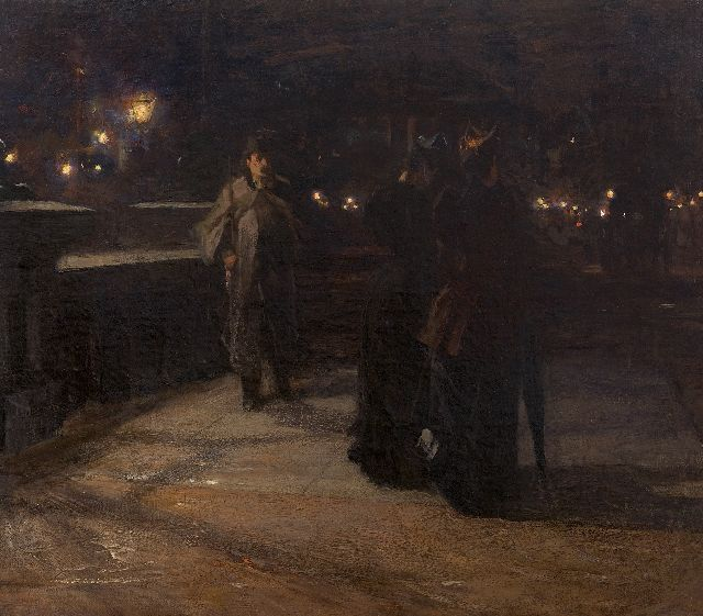 Arntzenius P.F.N.J.  | The evening walk, oil on canvas 70.2 x 79.7 cm