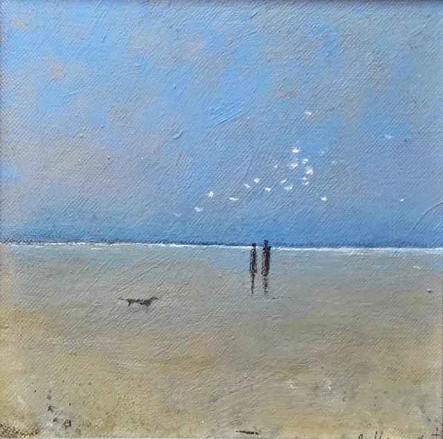 Evert van Hemert | Terschelling, acrylic on canvas, 20.1 x 20.2 cm, signed l.r. and on the stretcher