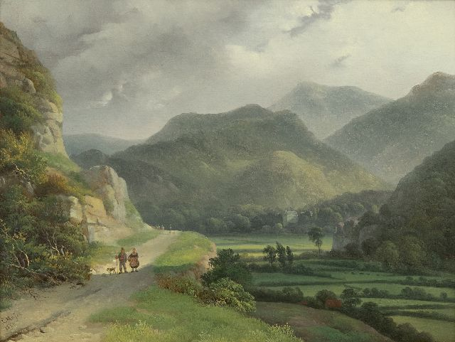 Louis Meijer | Mountain landscape, oil on panel, 26.0 x 34.6 cm, signed l.l. and dated 1833