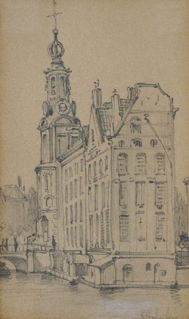 Klinkenberg J.C.K.  | The Munt, drawing on paper 9.0 x 15.0 cm