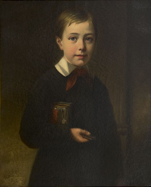 Lil J. van | Portrait of the painter's son Georges, oil on canvas 63.3 x 51.5 cm, signed l.l. and dated 1875