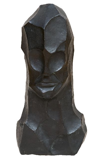 Bieling H.F.  | Head, patinated bronze 43.7 x 19.0 cm, executed in the 1920's