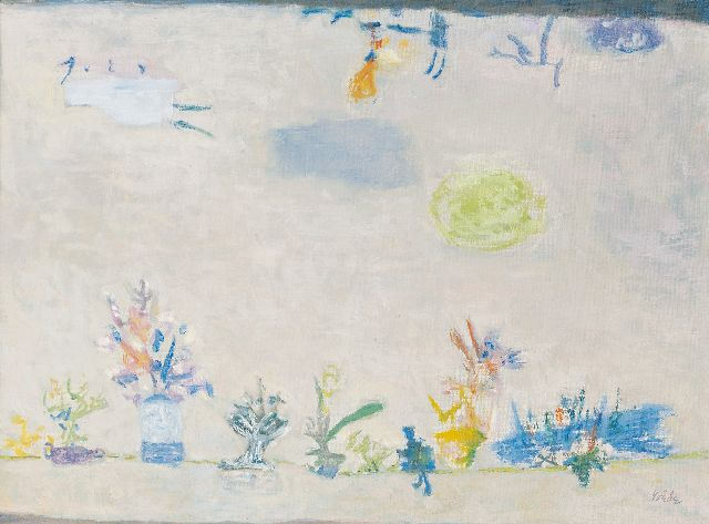 Jan Roëde | Far and yet close, oil on canvas, 44.9 x 59.9 cm, signed l.r. and painted circa 1956