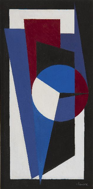 Claisse G.  | Clavier, oil on canvas 40.0 x 20.0 cm, signed l.r. and verso dated 1964