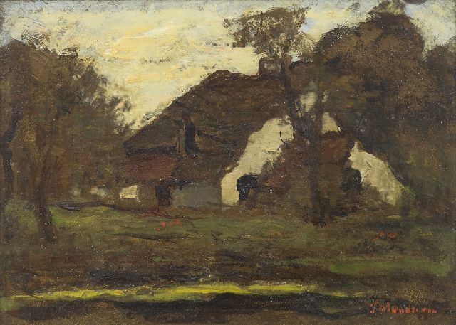 Frits Mondriaan | Farmhouse, oil on panel, 18.0 x 24.2 cm, signed l.r.