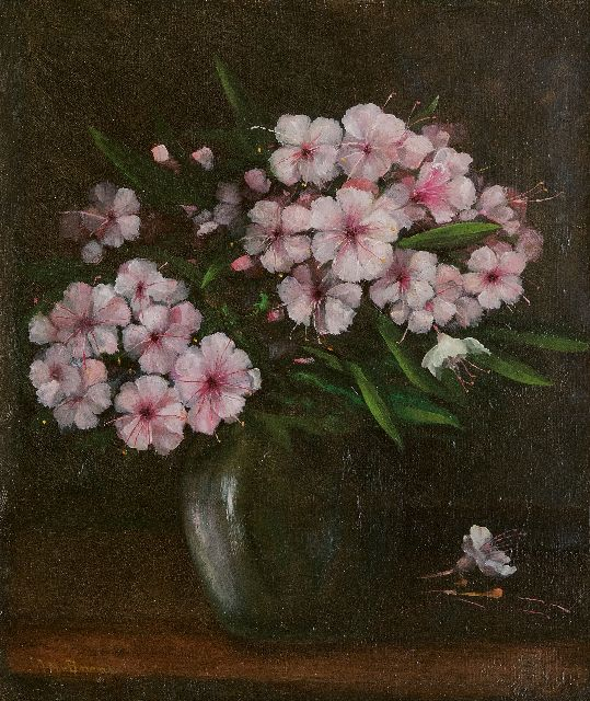 Jacobus Marinus van Bommel | Rhododendron in a vase, oil on canvas, 38.2 x 33.3 cm, signed l.l. and dated on the stretcher 1932