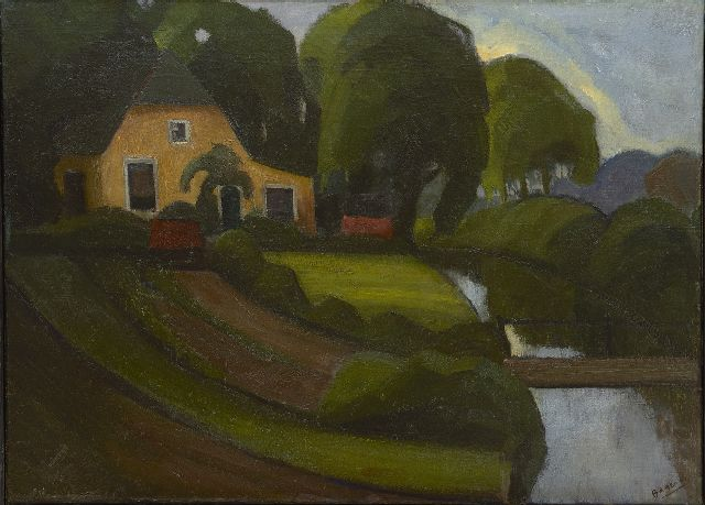 Bayens H.J.A.A.  | A farmhouse, oil on canvas 60.3 x 80.3 cm, signed l.r.