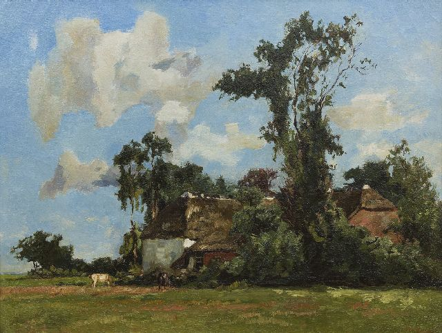 Willem de Zwart | A farmstead in summer, oil on canvas, 50.5 x 65.4 cm, signed l.r.