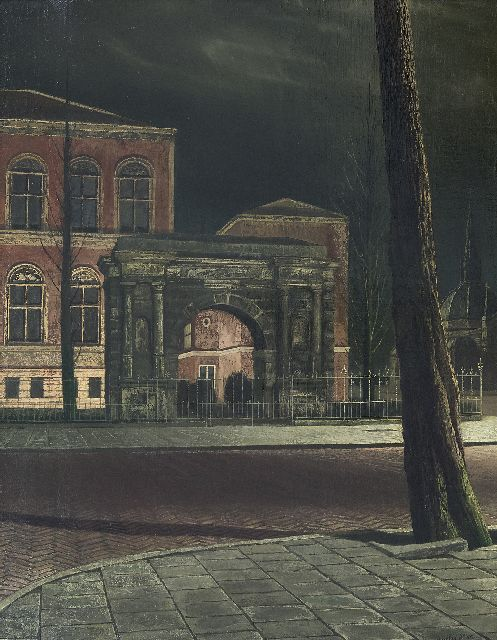 Willink A.C.  | Museum by night (Rijksmuseum), oil on canvas 66.3 x 52.5 cm, signed l.r. and dated '50