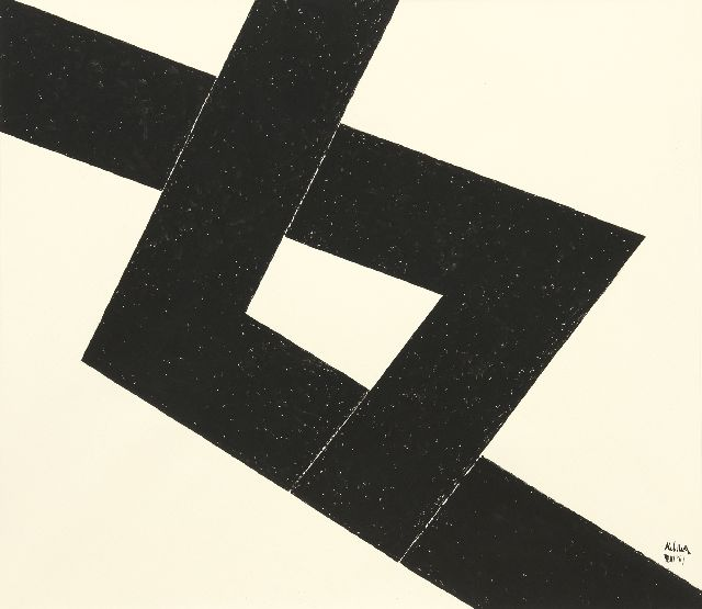 Kelder A.B.  | Abstract composition, Indian ink on paper 77.0 x 68.0 cm, signed l.r. and dated '69