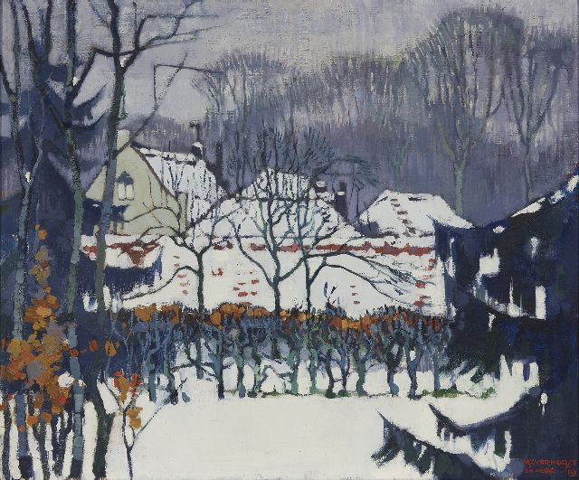 André Verhorst | A winter garden, oil on canvas, 55.2 x 66.3 cm, signed l.r. and dated 20 febr. '19