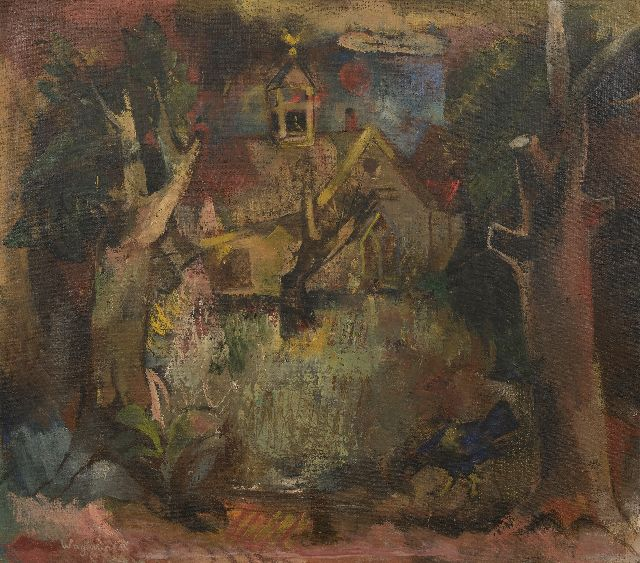 Wagemaker A.B.  | ''t Kerkje' (church in Vijfhuizen), oil on canvas 71.5 x 81.5 cm, signed l.l. and painted before 1945