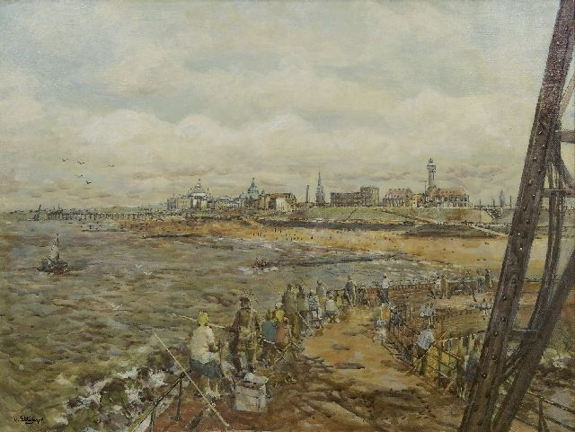 Carel van Ettinger | The boulevard of Scheveningen seen from the jetty, oil on board, 60.4 x 80.3 cm, signed l.l. and on the reverse