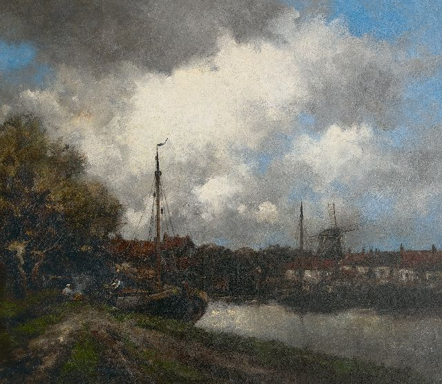 Hermanus Koekkoek jr. | Along the Vecht, oil on canvas, 75.0 x 86.0 cm, signed l.l. with pseudonym 'Jan van Couver'