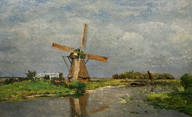 Paul Joseph Constantin Gabriel | Summer (polder near Giethoorn), oil on canvas, 90.8 x 151.0 cm, signed l.r. and painted ca. 1875