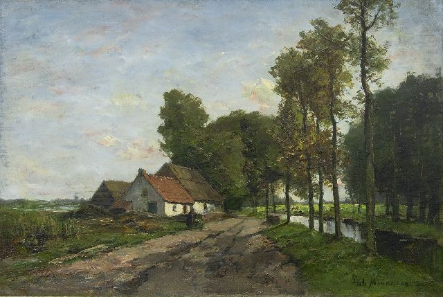 Frits Mondriaan | Landscape with a farmhouse along a canal, oil on canvas, 43.0 x 63.5 cm, signed l.r.