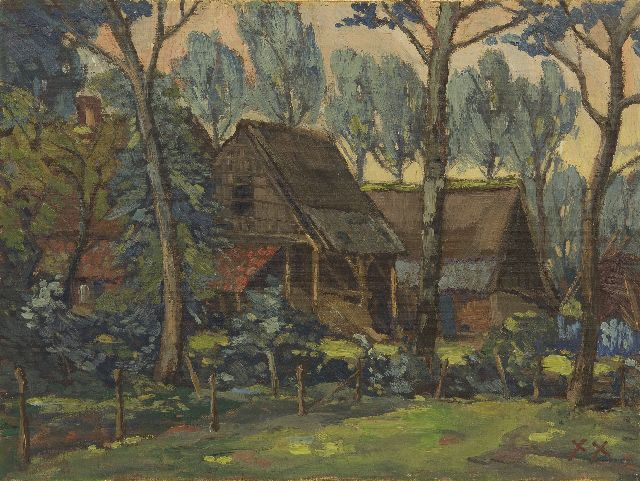 Kruysen J.  | Farmyard, oil on canvas 45.2 x 60.3 cm, signed l.r. with monogram