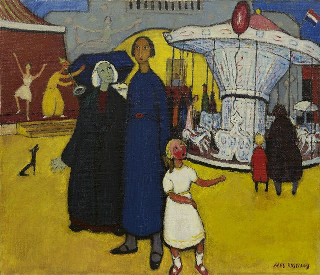 Bastiaans C.B.  | The fair, oil on canvas 60.2 x 70.2 cm, signed l.l. and painted in the 1960's