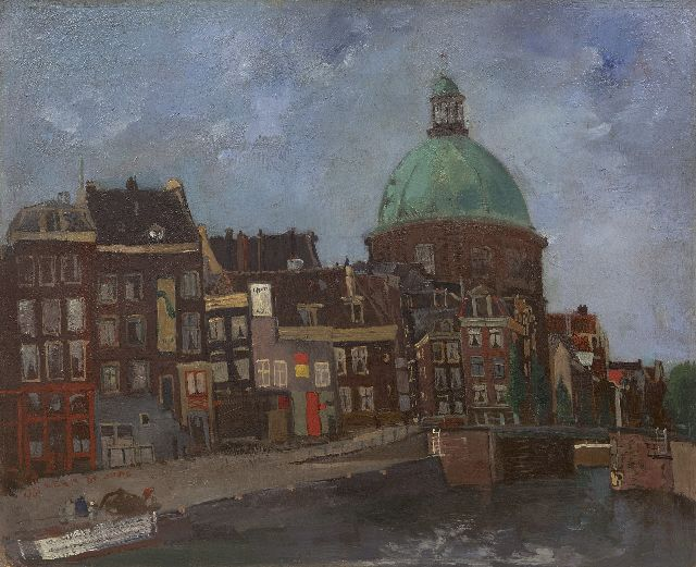 Germ de Jong | A view of Amsterdam with the Koepelkerk, oil on board laid down on panel, 37.4 x 45.9 cm, signed l.l. and dated 1941