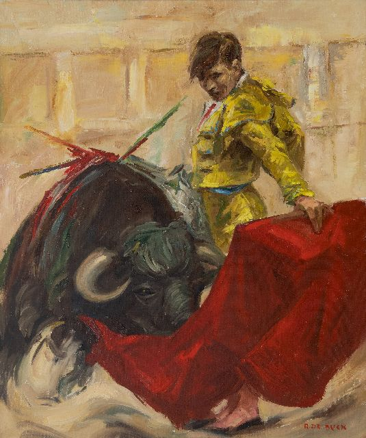 Raphaël de Buck | Bullfighter, oil on canvas, 60.0 x 49.8 cm, signed l.r.
