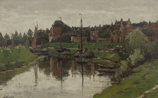 Nicolaas Bastert | A view of Hattem, oil on canvas laid down on panel, 36.4 x 56.2 cm, signed l.l.