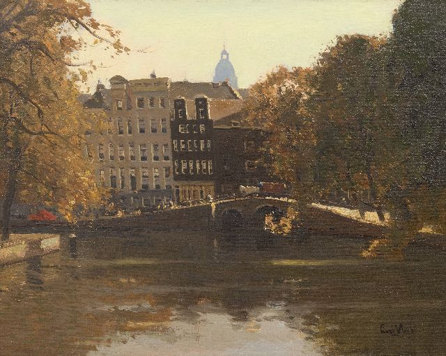 Leendert van der Vlist | A view of the Herengracht in Amsterdam, oil on canvas, 40.4 x 50.5 cm, signed l.r.