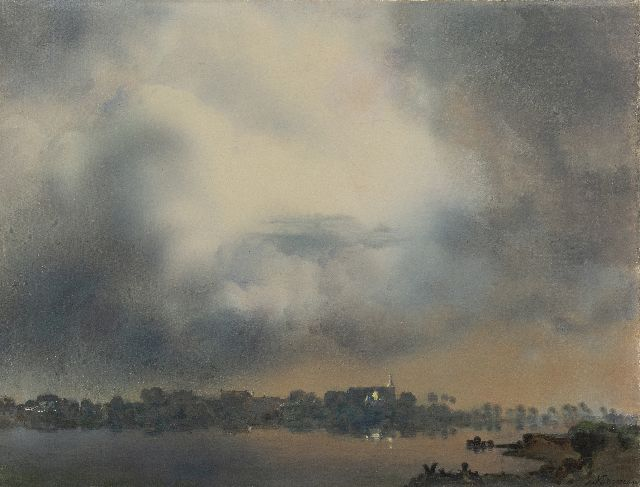 Jan Voerman sr. | A view of Hattem, oil on canvas, 52.0 x 68.0 cm, signed l.r.
