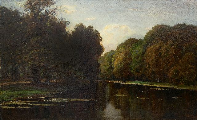 Frits Mondriaan | Pond in the Haagse Bos, oil on canvas, 61.8 x 97.3 cm, signed l.r.